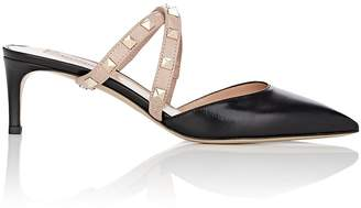 Valentino Women's Rockstud Leather Crisscross Mules