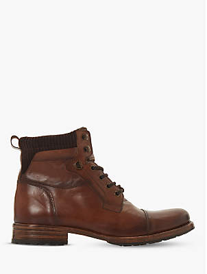 Dune Clapham Contrast Collar Lace Up Boot