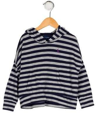 Ralph Lauren Girls' Striped Hooded Sweater