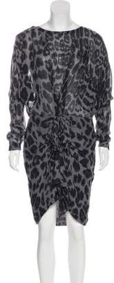 By Malene Birger Leopard Print Knee-Length Dress w/ Tags