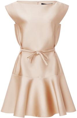 Paule Ka Duchesse Satin Flared Dress $1,315 thestylecure.com