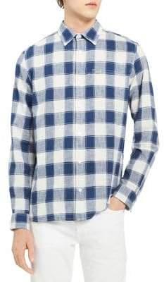 Calvin Klein Jeans Guaze Checkered Button-Down Shirt