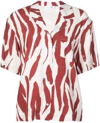 Anine Bing zebra print shirt