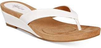 Style & Co. Haloe2 Wedge Thong Sandals, Only at Macy's $39.50 thestylecure.com