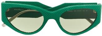 Salvatore Ferragamo oval frame sunglasses