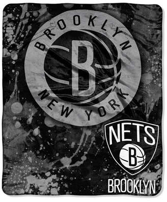 Northwest Company Brooklyn Nets 50x60in Plush Throw Drop Down