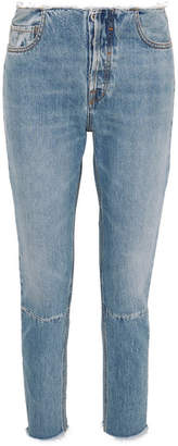 Unravel Project Distressed Slim-leg Jeans - Blue