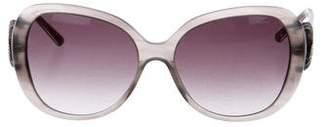 Chopard Crystal-Embellished Oversize Sunglasses