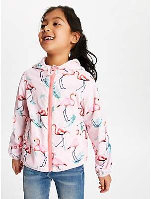John Lewis & Partners Girls' Flamingo Bomber Jacket