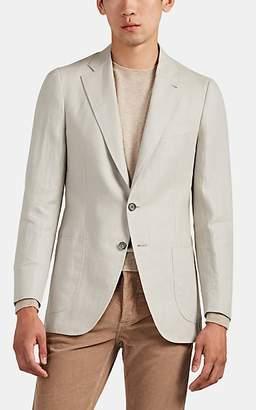 Isaia Men's Dustin Linen Two-Button Sportcoat - Sand