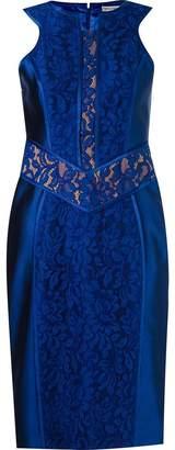 Martha Medeiros lace patchwork sleeveless dress