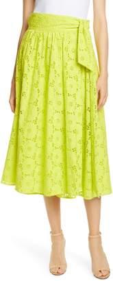 Diane von Furstenberg Tara Cotton Eyelet Skirt