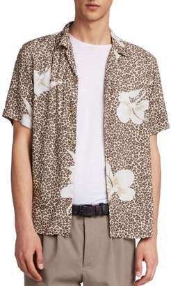 AllSaints Kuhi Regular Fit Short Sleeve Sport Shirt