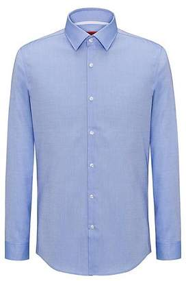 HUGO BOSS Slim-fit shirt in easy-iron cotton with internal contrasts