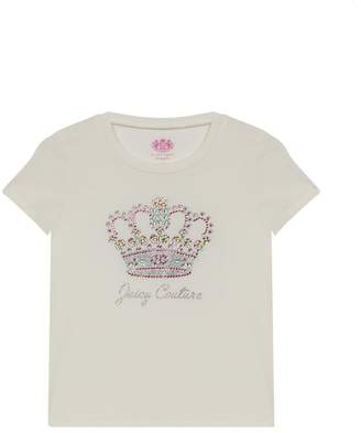 Juicy Couture JC Princess Crown Classic Short Sleeve Tee for Girls