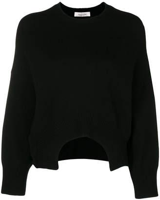 Valentino cutout cropped jumper