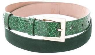 Dolce & Gabbana Snakeskin Buckle Belt