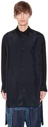 Yohji Yamamoto Printed Cupro & Cotton Poplin Shirt