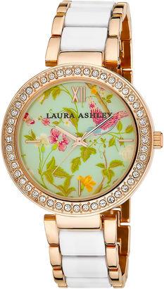 Laura Ashley Ladies White Summer Duck Egg Dial Watch La31007Wt $395 thestylecure.com