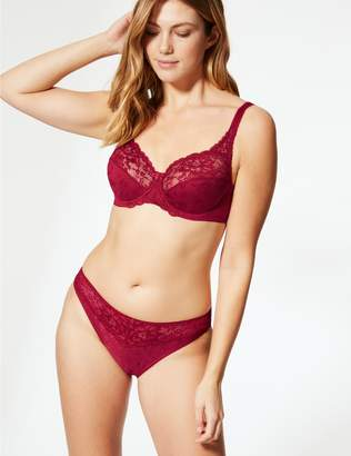 Marks and Spencer Floral Jacquard Lace Non-Padded Full Cup Bra A-DD