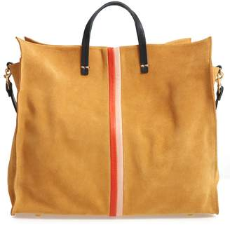 Clare Vivier Simple Stripe Suede Tote