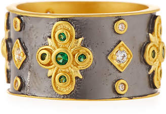 Freida Rothman Cubic Zirconia Floral Cigar Band Ring, Size 7