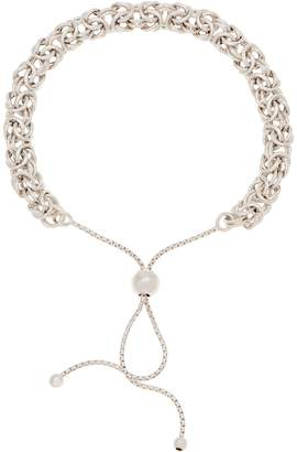 Italian Silver Adjustable Byzantine Bracelet 5.3g