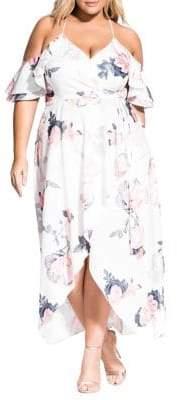 City Chic Plus Floral Lily Maxi Dress