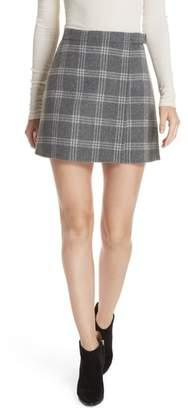 Theory Westport Plaid Wool & Cashmere Miniskirt