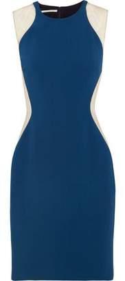 Stella McCartney Eliana Tulle-Paneled Stretch-Cady Dress