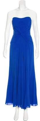Nicole Miller Silk Strapless Gown