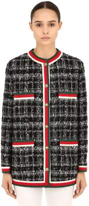 Gucci Oversized Wool Blend Tweed Jacket