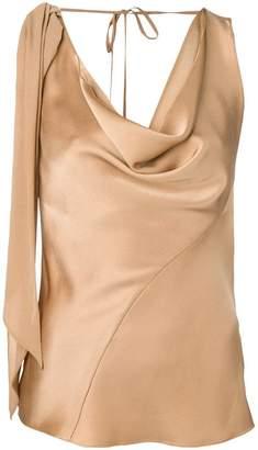 Roberto Cavalli sleeveless draped top