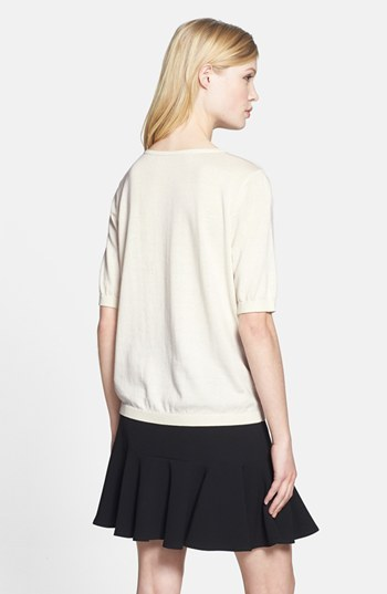 Chelsea28 Woven Front Knit Sweater