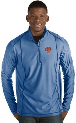 Antigua Men's New York Knicks Tempo Quarter-Zip Pullover