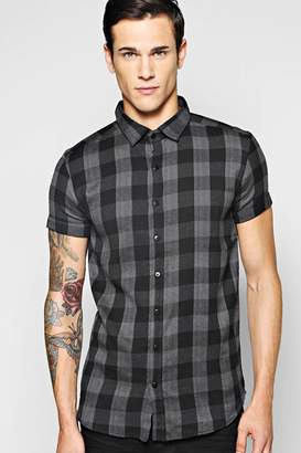 boohoo Short Sleeve Check Shirt