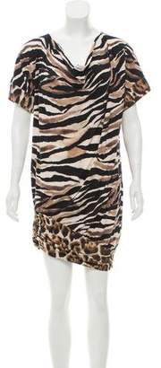Just Cavalli Animal Print Mini Dress