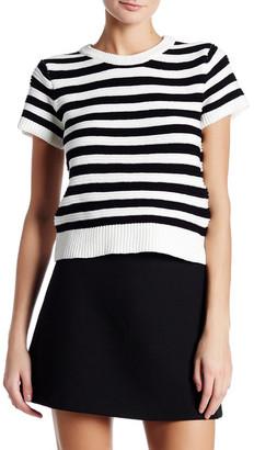 Nicole Miller Crew Neck Short Sleeve Sweater $265 thestylecure.com