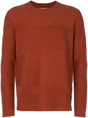 Folk Fragment crew neck sweater