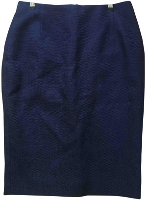 Hobbs Blue Cotton Skirt for Women