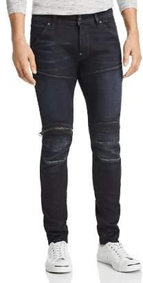 G Star 5620 3D Knee Zip Skinny Fit Jeans in Dark Aged
