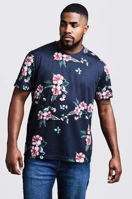 Big & Tall Floral Print T-Shirt