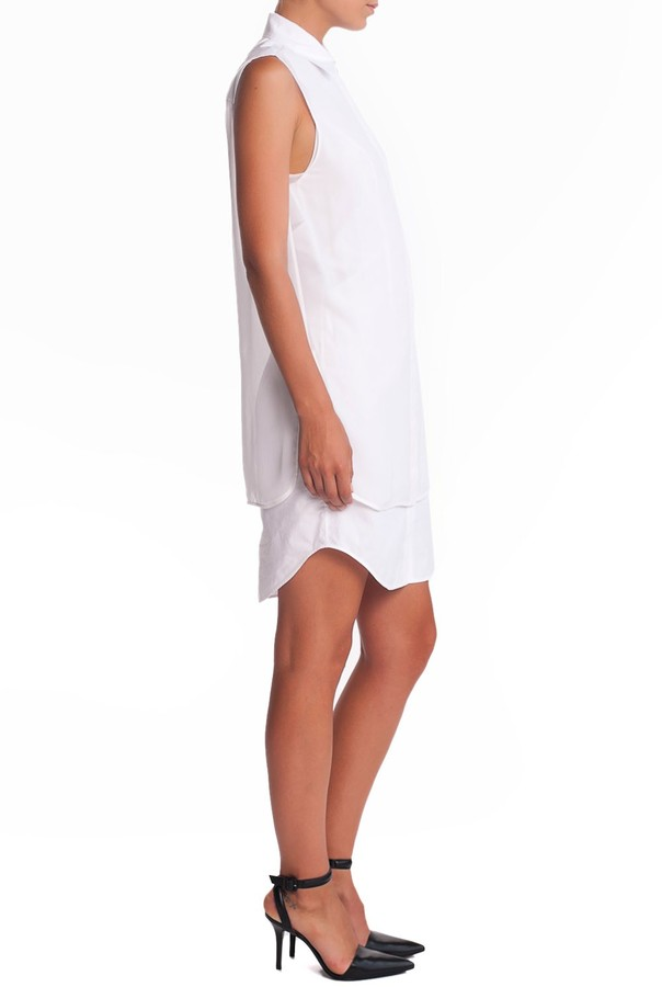 Alexander Wang Double Layer Dress - Pearl