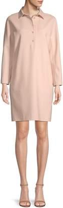 Loro Piana Long-Sleeve Wool-Blend Shirtdress