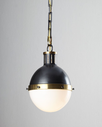 Visual Comfort Hicks 1-Light Small Bronze with Antiqued-Brass Pendant