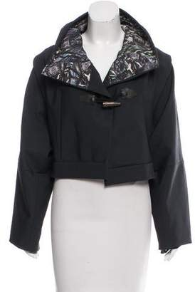 Christian Cota Cropped Shawl-Collar Jacket