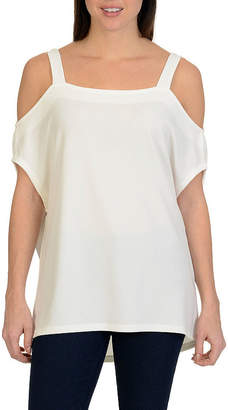 Larry Levine Cold Shoulder Top