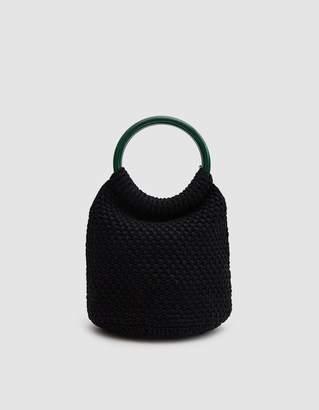 Rachel Comey Praia Hand Crochet Bucket in Black