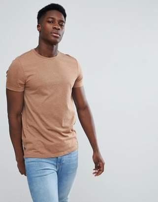 Asos Design DESIGN crew neck t-shirt in brown