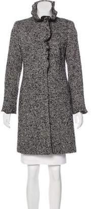 DKNY Herringbone Wool Coat